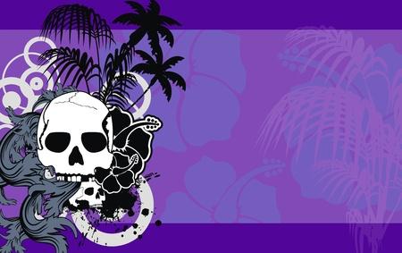 backgorund: heraldic hawaiian skull backgorund