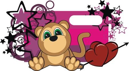 monkey baby cartoon  sticker in vector format very easy to edit Vector