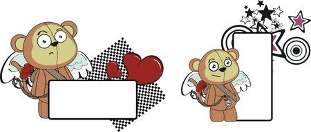 monkey cupid cartoon copyspace in vector format Vector