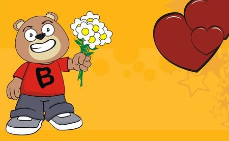 teddy bear kid cartoon background in vector format Stock Vector - 9198550