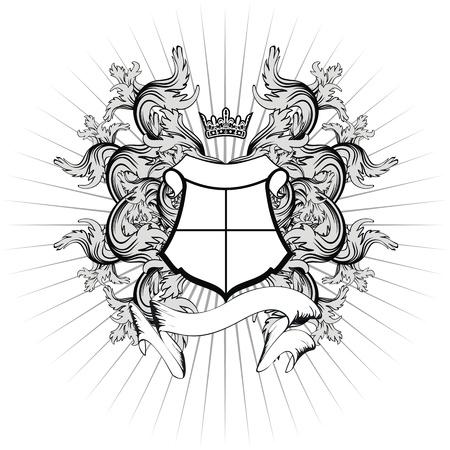 heraldic coat of arms copyspace in vector format very easy to edit