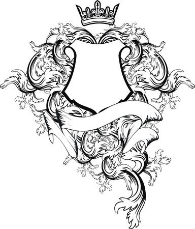 heraldic coat of arms copy space