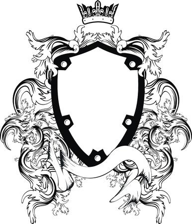 Atelier de blason héraldique en format vectoriel très facile à edit1 Banque d'images - 9233773