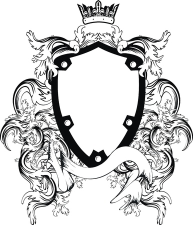 heraldic coat of arms copyspace in vector format very easy to edit1