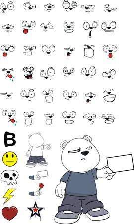 oso polar cabrito conjunto de dibujos animados en formato vectorial