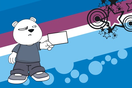 polar bear kid cartoon background  Vector