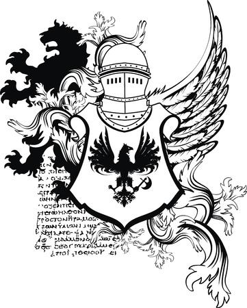 heraldic helmet coat of arms in vector format Stock Vector - 9378429
