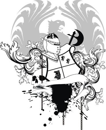 heraldische helm wapenschild in vector-formaat Stock Illustratie