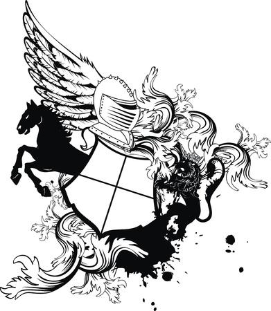 ベクトル形式の紋章紋章入りのヘルメット