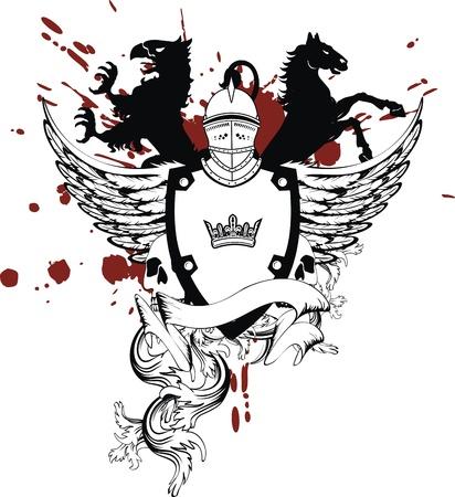 heraldic helmet coat of arms in vector format Reklamní fotografie - 9378433