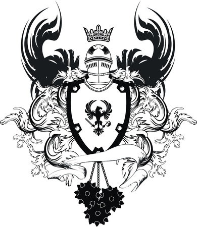 Armoiries casque héraldique en format vectoriel Banque d'images - 9378428