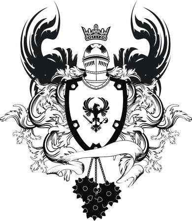 heraldic helmet coat of arms in vector format Stock Vector - 9378428