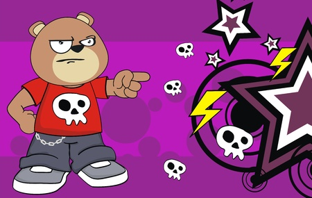 teddy kid cartoon background in vector format very easy to edit