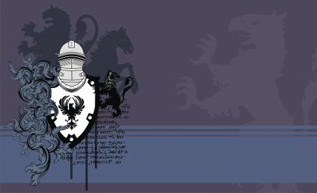 heraldic helmet coat of arms background in vector format very easy to edit Reklamní fotografie - 9443121