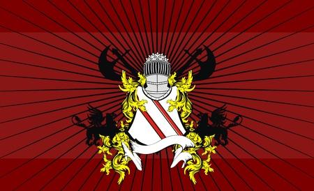 heraldic helmet coat of arms background in vector format very easy to edit Vector