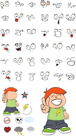 kid cartoon set in vector format Stock Vector - 9455626