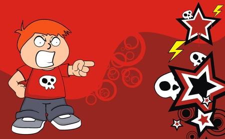 kid cartoon background in vector format Vector