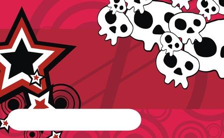 ベクトル形式の頭蓋骨漫画の背景 写真素材 - 9477616
