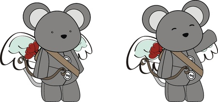 mouse cupid cartoon  in vector format Vector