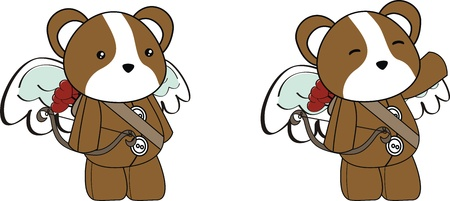 hamster cupid cartoon  in vector format