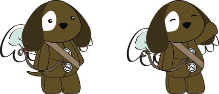 puppy cupid cartoon  in vector format Ilustrace