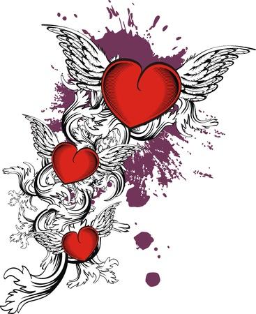 heraldic heart in vector format Stock Vector - 9511800