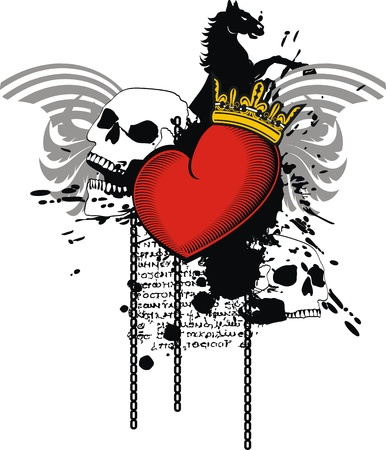 Heraldische hart in vector-formaat Stockfoto - 9511796