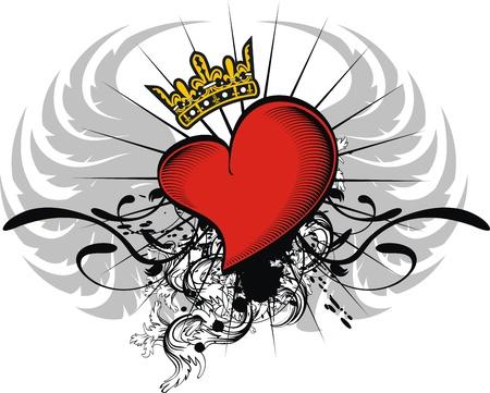 heraldic heart in vector format Stock Vector - 9511792