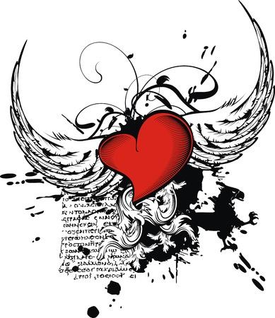 heraldic heart in vector format Stock Vector - 9511795