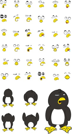 pinguin cartoon set