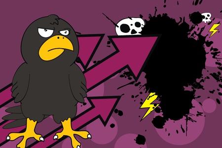 crow cartoon background