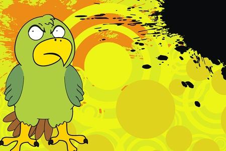 parakeet: parakeet cartoon background Illustration