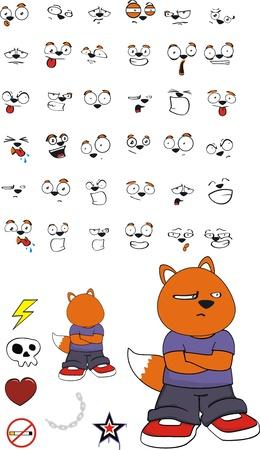 fox kid cartoon Vector