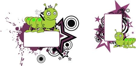 caterpillar cartoon copyspace in vector format Stock Vector - 9632203
