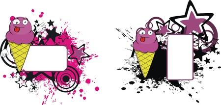 ice cream cartoon copyspace in vector format Stock Vector - 9632217