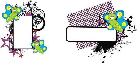 butterfly  cartoon copyspace in vector format Stock Vector - 9632219