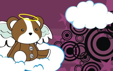 angel cartoon: hamster angel cartoon background in vector format