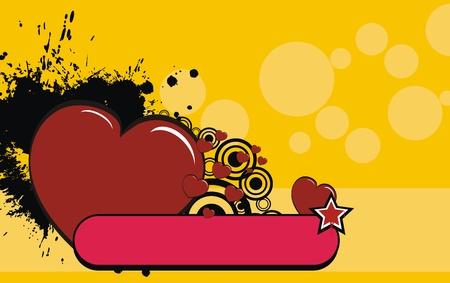 心漫画背景バレンタイン ベクトル形式で