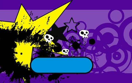 copysapce: skull cartoon background in vector format Illustration