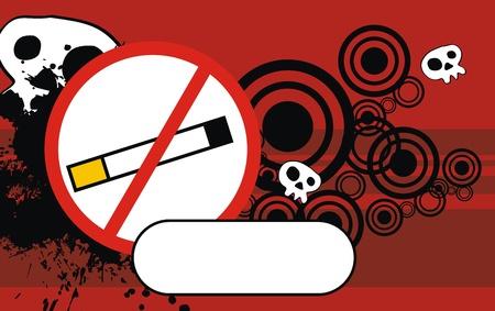 copysapce: no smoke cartoon background in vector format