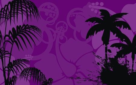 熱帯のハワイ背景ベクトル形式で 写真素材 - 9632253