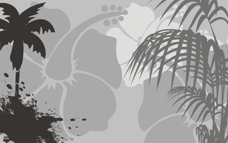 backgorund: tropical hawaii background in vector format Illustration
