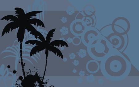 熱帯のハワイ背景ベクトル形式で 写真素材 - 9632306