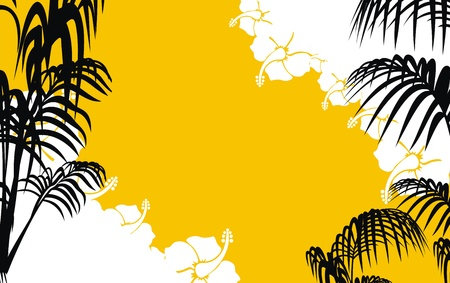 熱帯のハワイ背景ベクトル形式で  イラスト・ベクター素材