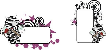 zebra plush cartoon copyspace in vector format Stock Vector - 9680322