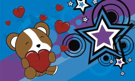 hamster cartoon valentine background in vector format very easy to edit