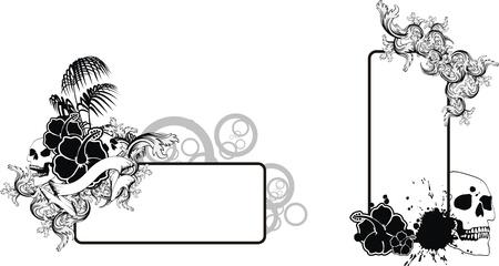 tropische bloem schedel achtergrond in vector-formaat zeer gemakkelijk te bewerken
