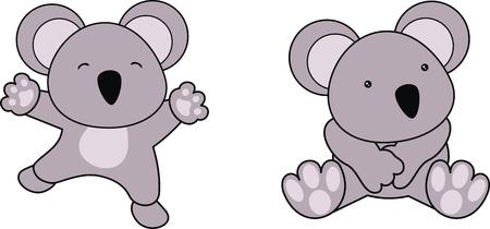 コアラの赤ちゃん漫画ベクトル形式で
