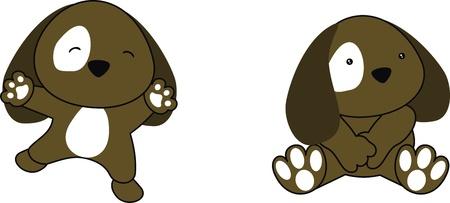 子犬赤ちゃん漫画ベクトル形式で