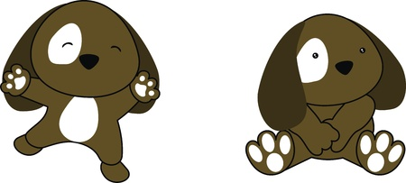 puppy baby cartoon in vector format
